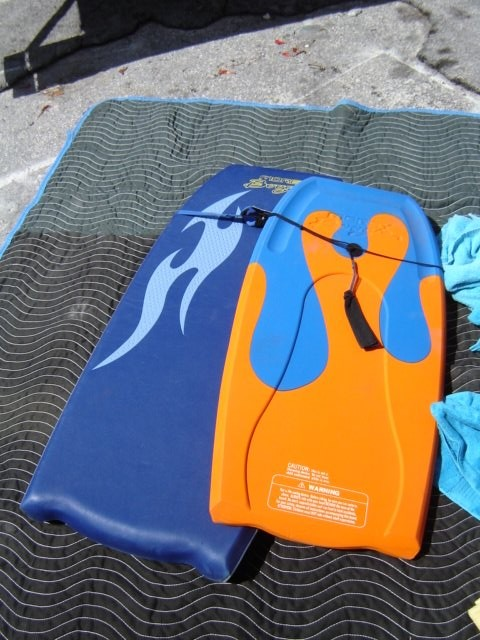 Beach boogie board