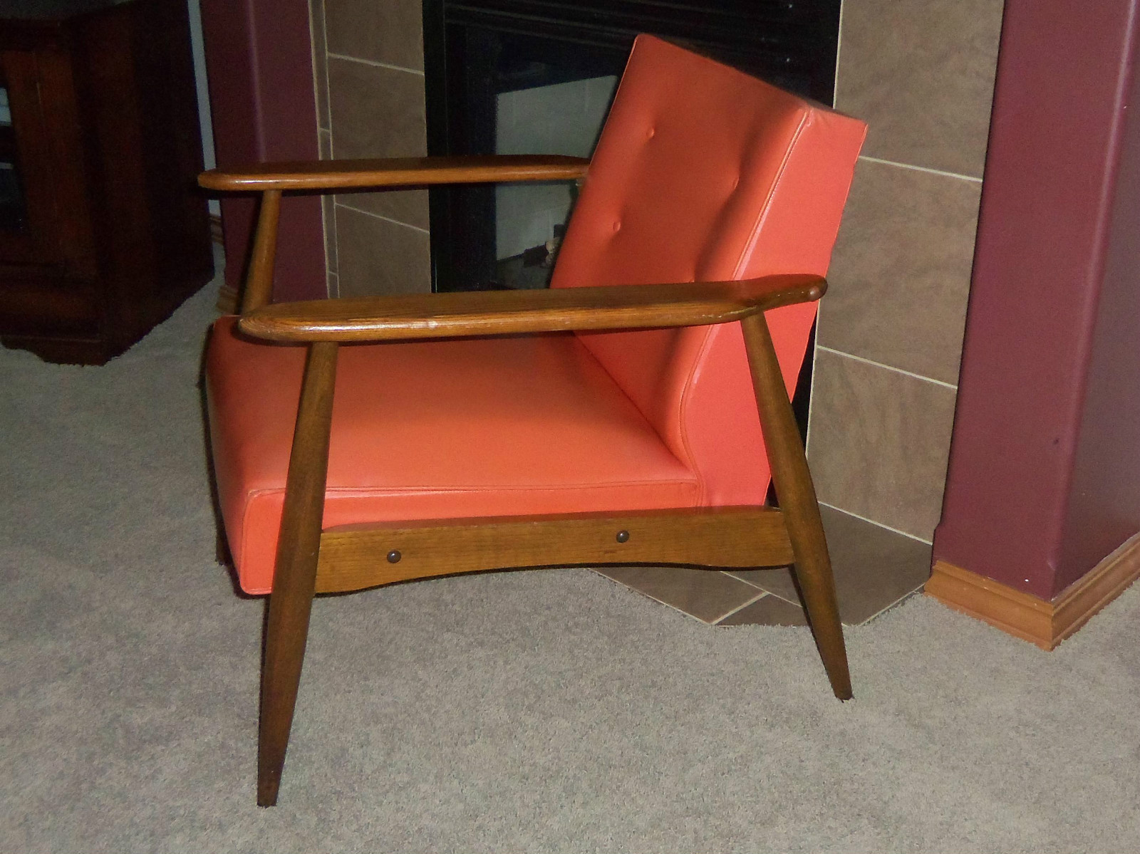 here is a vintage retro mid century danish modern lounge arm chair
