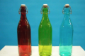 GLASS COLORED BOTTLES