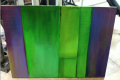 GREEN AND PURPLE PAINTING