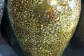 4 FOOT TALL METALLIC GOLD VASE