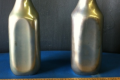 CHROME MILK BOTTLES