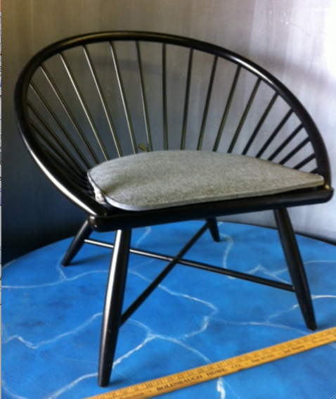 black modern chair miami prop rental