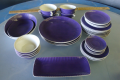 PURPLE ART DECO DISHES