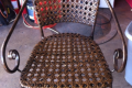 METAL WICKER PATIO CHAIR