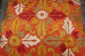 ORANGE & GOLD FLORAL PILLOW