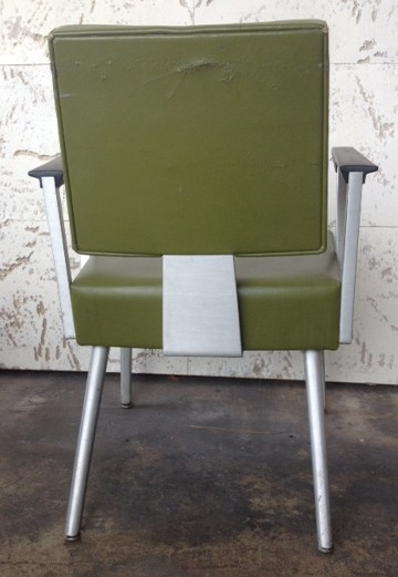 mid century modern chairs yellow olive miami prop rental