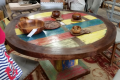 5′ ROUND TABLE // WOODEN TABLE
